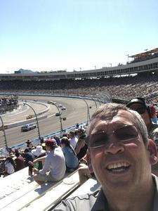 Stephen attended Camping World 500 - Monster Energy NASCAR Cup Series - Phoenix International Raceway on Mar 19th 2017 via VetTix