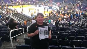 Alvina attended Phoenix Suns vs. Orlando Magic - NBA on Mar 17th 2017 via VetTix