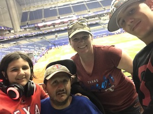 Trina attended HEB Big League Weekend - American League West Division Champion Texas Rangers vs. American League Central Division Champion Cleveland Indians - MLB on Mar 17th 2017 via VetTix