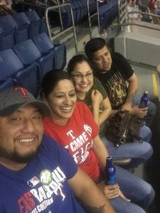 Robert attended HEB Big League Weekend - American League West Division Champion Texas Rangers vs. American League Central Division Champion Cleveland Indians - MLB on Mar 18th 2017 via VetTix