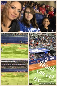 Darla attended HEB Big League Weekend - American League West Division Champion Texas Rangers vs. American League Central Division Champion Cleveland Indians - MLB on Mar 18th 2017 via VetTix