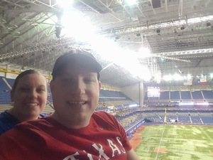 Brittney attended HEB Big League Weekend - American League West Division Champion Texas Rangers vs. American League Central Division Champion Cleveland Indians - MLB on Mar 18th 2017 via VetTix