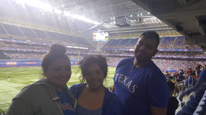 Alicia attended HEB Big League Weekend - American League West Division Champion Texas Rangers vs. American League Central Division Champion Cleveland Indians - MLB on Mar 18th 2017 via VetTix