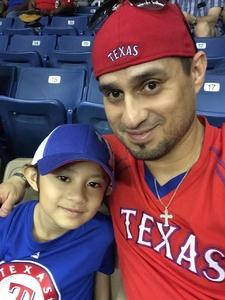 Jacob attended HEB Big League Weekend - American League West Division Champion Texas Rangers vs. American League Central Division Champion Cleveland Indians - MLB on Mar 18th 2017 via VetTix