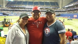 Martin attended HEB Big League Weekend - American League West Division Champion Texas Rangers vs. American League Central Division Champion Cleveland Indians - MLB on Mar 18th 2017 via VetTix