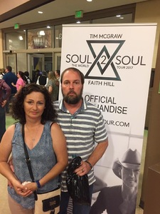 Brian Hood attended Tim McGraw and Faith Hill - Soul2Soul World Tour - Legacy Arena on Apr 21st 2017 via VetTix