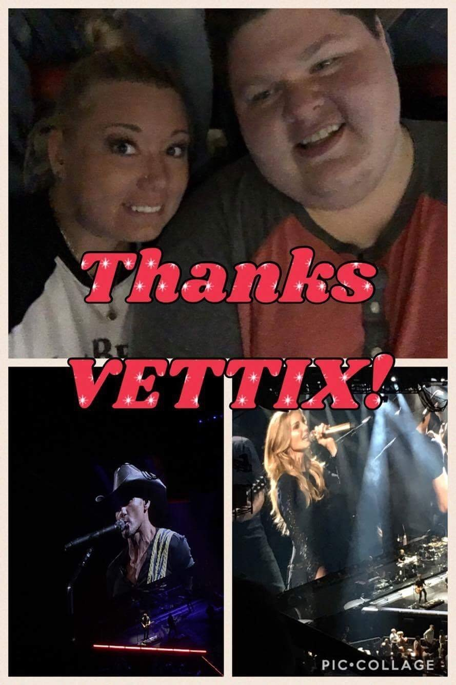 VetTixer Thank You Messages