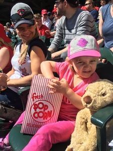 Lacey attended Minnesota Twins vs. Detroit Tigers - MLB on Apr 22nd 2017 via VetTix