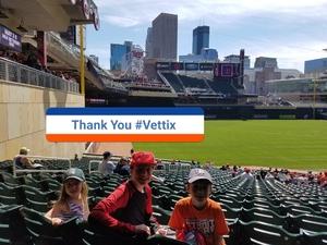 Justin attended Minnesota Twins vs. Detroit Tigers - MLB on Apr 22nd 2017 via VetTix