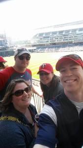 Melissa attended Minnesota Twins vs. Detroit Tigers - MLB on Apr 22nd 2017 via VetTix