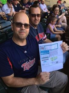 Brad Foster attended Minnesota Twins vs. Boston Red Sox - MLB on May 6th 2017 via VetTix