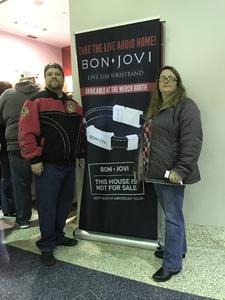 Frederick attended Bon Jovi - This House Is Not for Sale Tour on Mar 19th 2017 via VetTix