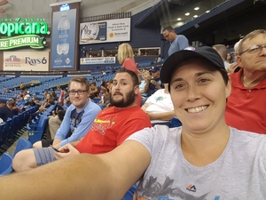 Kimberly attended Tampa Bay Rays vs. Cleveland Indians - MLB on Aug 10th 2017 via VetTix
