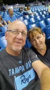Ron and Linda attended Tampa Bay Rays vs. Cleveland Indians - MLB on Aug 10th 2017 via VetTix