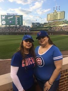 Christina attended Chicago Cubs vs. Milwaukee Brewers - MLB on Apr 18th 2017 via VetTix