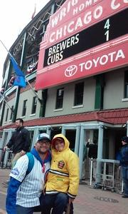 Fernando attended Chicago Cubs vs. Milwaukee Brewers - MLB on Apr 19th 2017 via VetTix