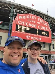 Ryan attended Chicago Cubs vs. Milwaukee Brewers - MLB on Apr 19th 2017 via VetTix
