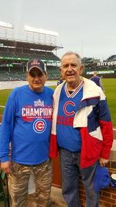 Sean attended Chicago Cubs vs. Milwaukee Brewers - MLB on Apr 19th 2017 via VetTix