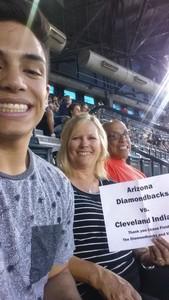 Anthony attended Arizona Diamondbacks vs. Cleveland Indians - MLB on Apr 7th 2017 via VetTix