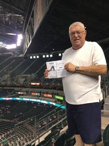 Leslie attended Arizona Diamondbacks vs. Cleveland Indians - MLB on Apr 7th 2017 via VetTix
