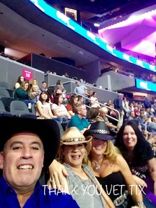 Christopher attended George Strait - Strait to Vegas With Special Guest Cam - Friday on Apr 7th 2017 via VetTix