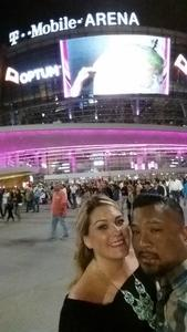 Rey attended George Strait - Strait to Vegas With Special Guest Cam - Friday on Apr 7th 2017 via VetTix