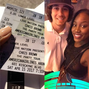 Sheena attended Chris Brown the Party Tour With Fabolous, O.t Genasis and Kap G on Apr 15th 2017 via VetTix
