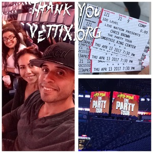 Leonel attended Chris Brown the Party Tour With 50 Cent, Fabolous, O.t Genasis and Kap G on Apr 13th 2017 via VetTix
