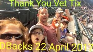 Timothy attended Arizona Diamondbacks vs. Los Angeles Dodgers - MLB on Apr 22nd 2017 via VetTix
