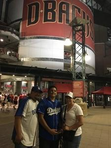 Christi attended Arizona Diamondbacks vs. Los Angeles Dodgers - MLB on Apr 22nd 2017 via VetTix