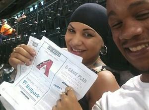 Alicia attended Arizona Diamondbacks vs. Los Angeles Dodgers - MLB on Apr 22nd 2017 via VetTix
