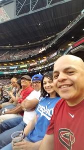 Jorge attended Arizona Diamondbacks vs. Los Angeles Dodgers - MLB on Apr 22nd 2017 via VetTix