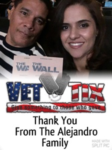 SSG MARCELINO attended The Wall - World Premier With John Cena and Aaron Taylor - Johnson on Apr 27th 2017 via VetTix