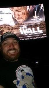 michael attended The Wall - World Premier With John Cena and Aaron Taylor - Johnson on Apr 27th 2017 via VetTix