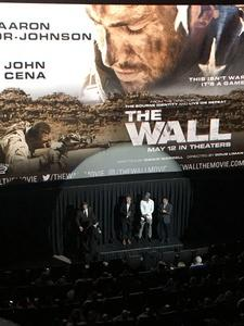 Abdulwahid attended The Wall - World Premier With John Cena and Aaron Taylor - Johnson on Apr 27th 2017 via VetTix