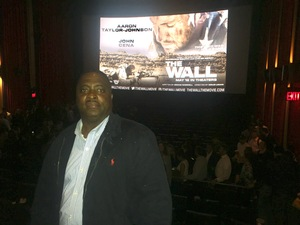 Anthony attended The Wall - World Premier With John Cena and Aaron Taylor - Johnson on Apr 27th 2017 via VetTix