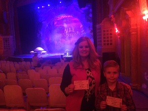 John attended Alice in Wonderland - Live on Stage - Presented by the Orpheum on Apr 22nd 2017 via VetTix