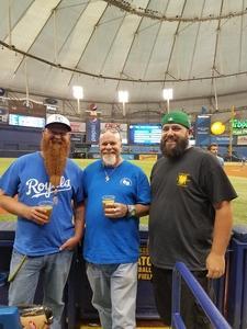 Brian attended Tampa Bay Rays vs. Kansas City Royals - MLB on May 9th 2017 via VetTix