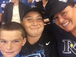 Natalie attended Tampa Bay Rays vs. Kansas City Royals - MLB on May 9th 2017 via VetTix