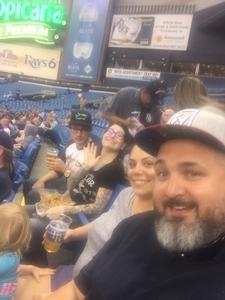 Joseph attended Tampa Bay Rays vs. Kansas City Royals - MLB on May 9th 2017 via VetTix