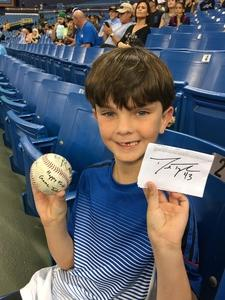Steven G attended Tampa Bay Rays vs. Kansas City Royals - MLB on May 9th 2017 via VetTix
