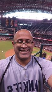 Carlos attended Arizona Diamondbacks vs. Philadelphia Phillies - MLB on Jun 25th 2017 via VetTix