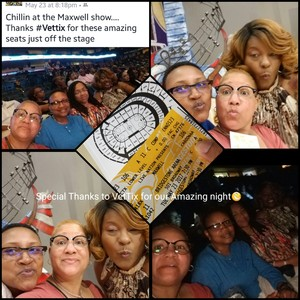 Pamela attended Maxwell Summers' Tour '17 With Special Guests Ledisi & Common on May 23rd 2017 via VetTix
