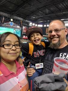 Tobias attended Arizona Diamondbacks vs. Cincinnati Reds - MLB on Jul 8th 2017 via VetTix