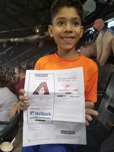 MARIO attended Arizona Diamondbacks vs. Cincinnati Reds - MLB on Jul 9th 2017 via VetTix