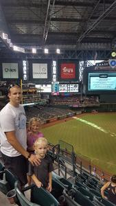Stephen attended Arizona Diamondbacks vs. Cincinnati Reds - MLB on Jul 9th 2017 via VetTix