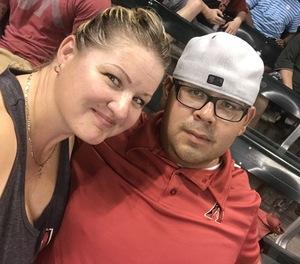 Rebecca attended Arizona Diamondbacks vs. Washington Nationals - MLB on Jul 21st 2017 via VetTix