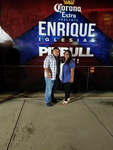 Montez attended Enrique Iglesias and Pitbull Live at the Pepsi Center on Jun 6th 2017 via VetTix