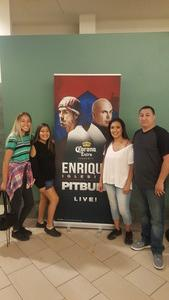 donnie attended Enrique Iglesias and Pitbull Live at the Pepsi Center on Jun 6th 2017 via VetTix