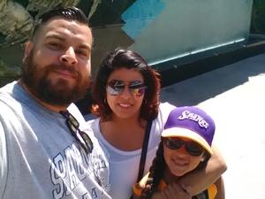 reyes attended Los Angeles Sparks vs. Phoenix Mercury - WNBA - Armed Services Day! on Jun 18th 2017 via VetTix